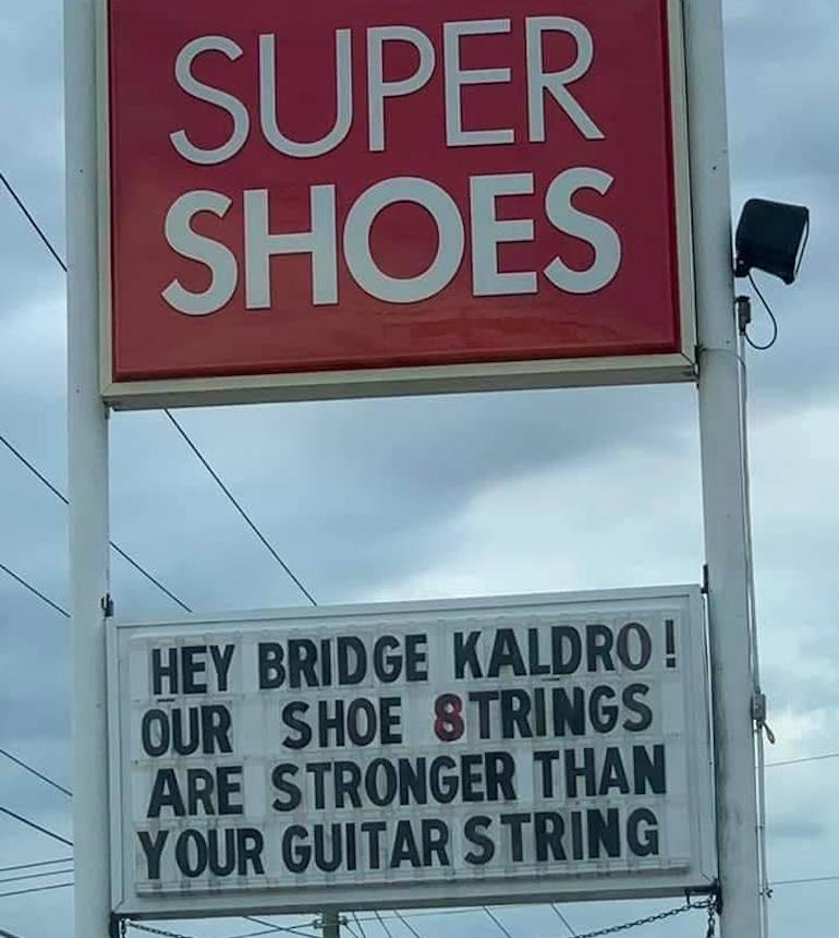 shoe store sign