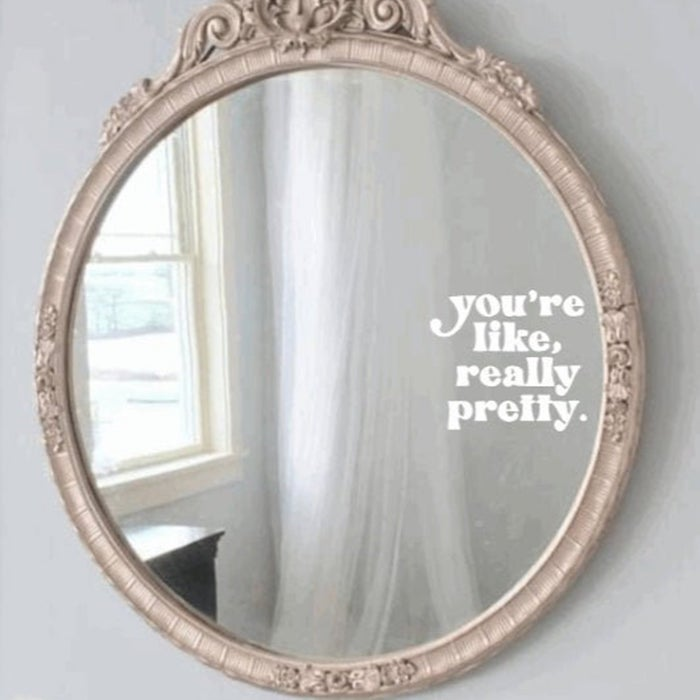mirror with decal