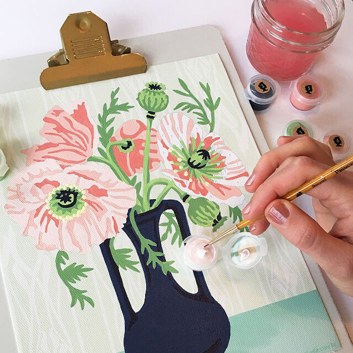 floral painting kit