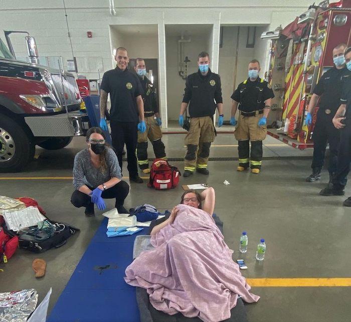 childbirth in fire station