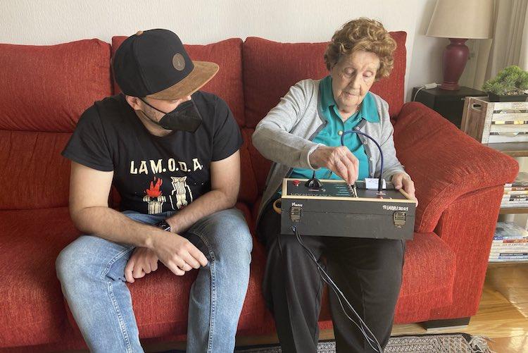 grandson and grandmother with yayagram