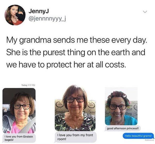 grandma sending selfies