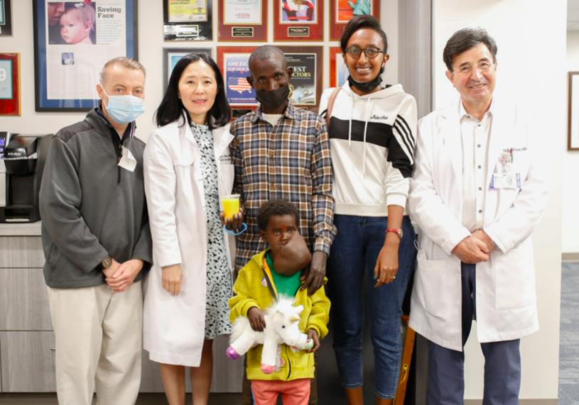 nagalem with her medical team