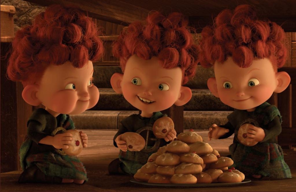 hubert harris and hamish in pixar's brave