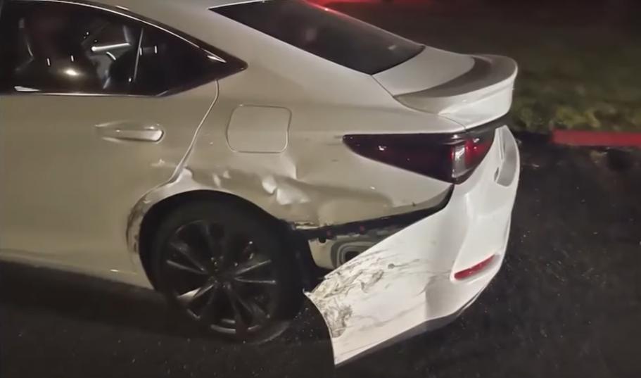 side swept white car
