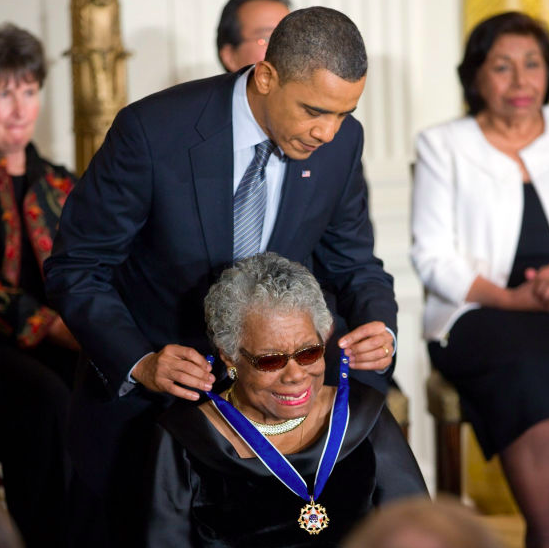 maya angelou receiving presidential medal of freedom