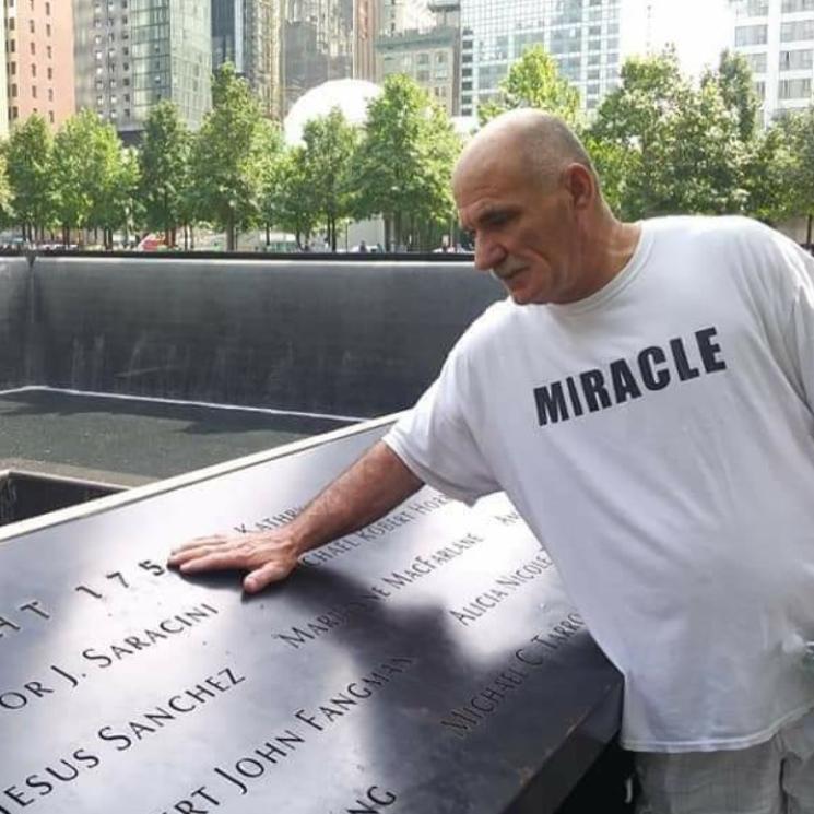 man at ground zero in nyc