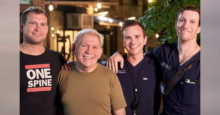 three doctors with jazz singer