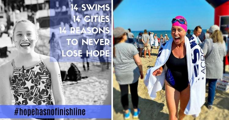 Vicki Bunke and daughter Grace Bunke for Swim Across America