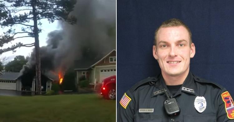 Officer Tony Becker housefire rescue