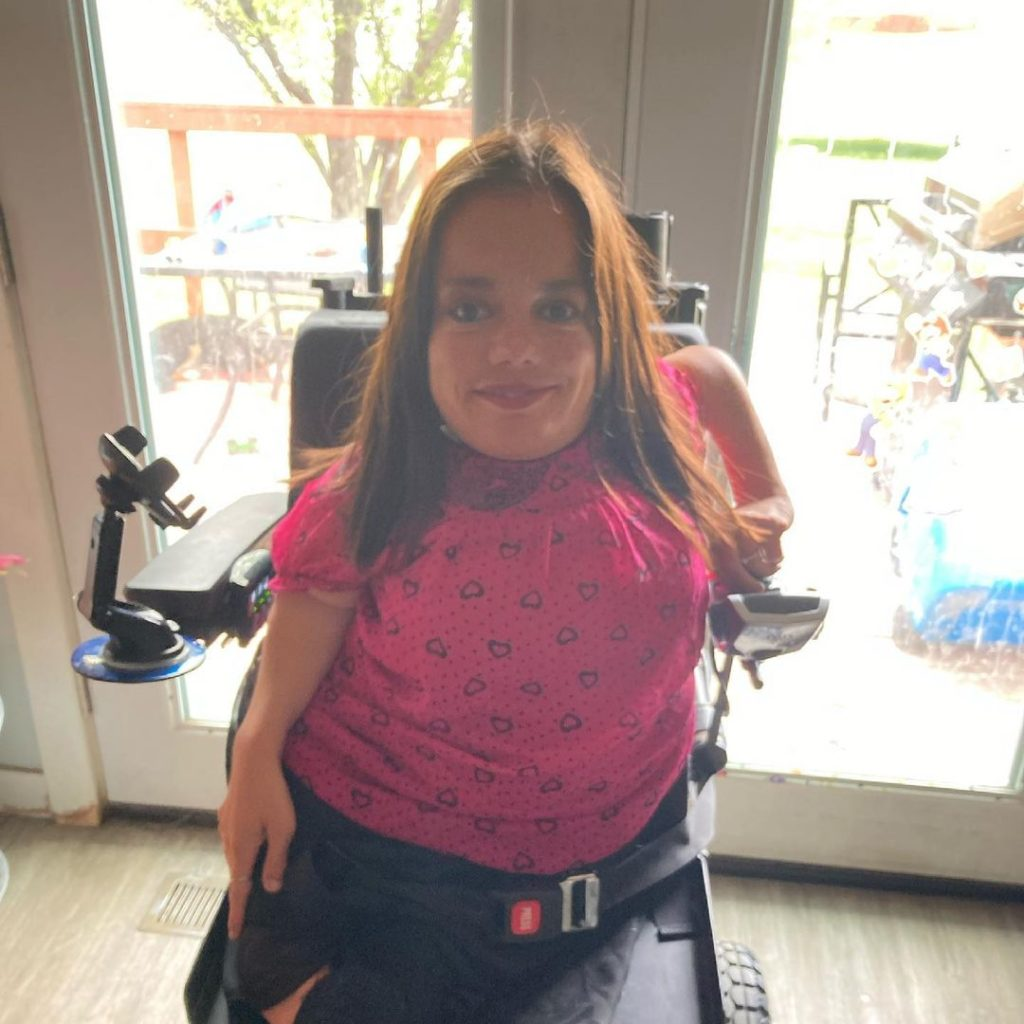 Trisha Taylor in wheelchair