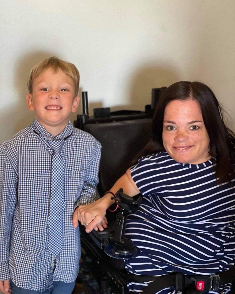 Trisha Taylor and son Maven