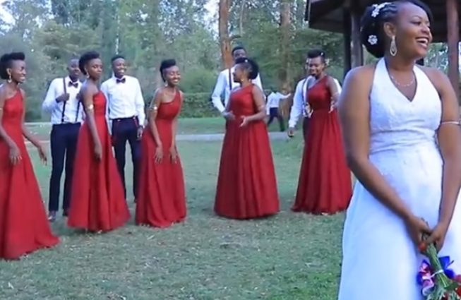 bride bouquet toss surprise