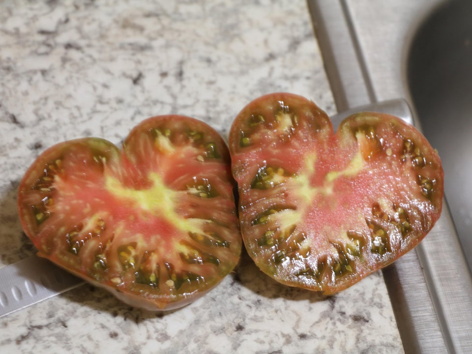 tomato that grew in the shape of a heart