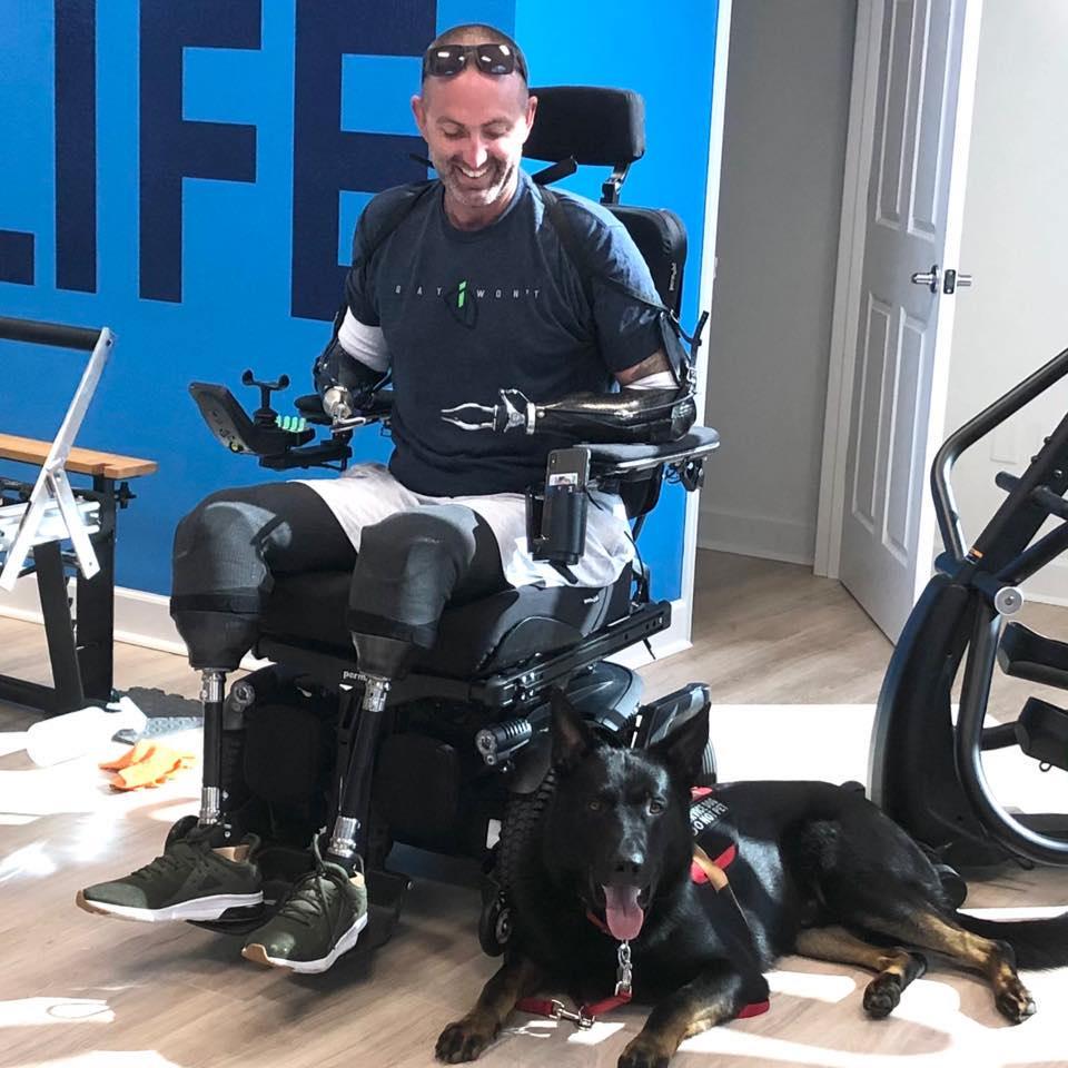 Gary Miracle and his dog