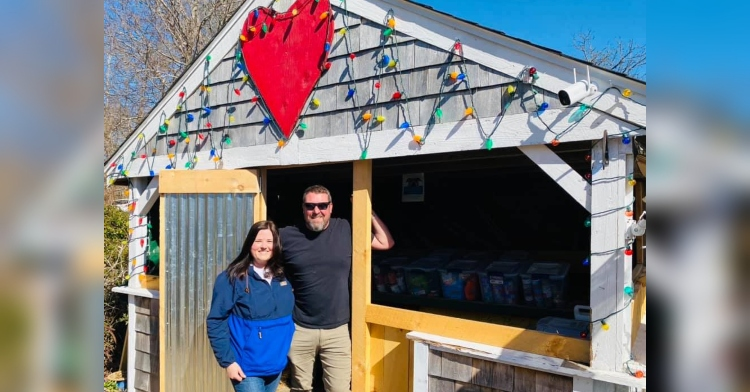 Jill and Kenneth Gonsalves Acushnet Pet Food Pantry