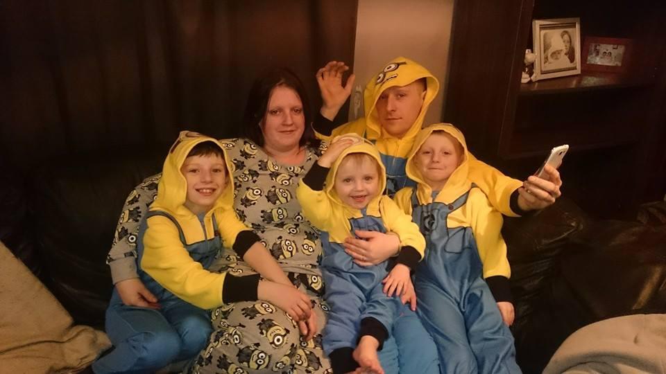 Matthew Sandbrook and Rebecca Rushton and kids